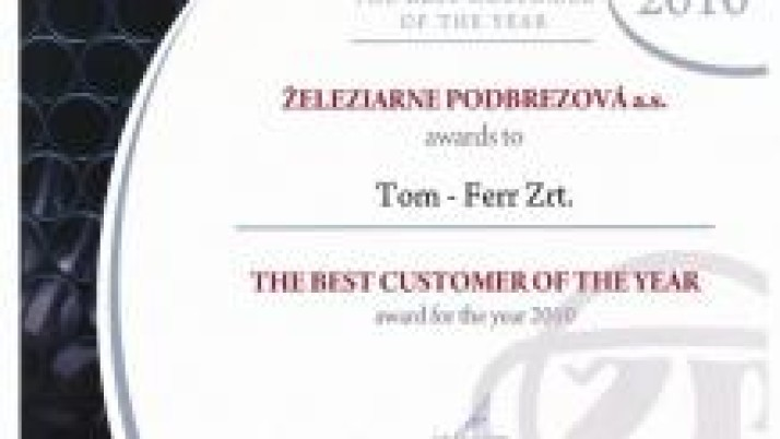 The best costumer of the year 2010