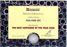 The best costumer of the year 2008